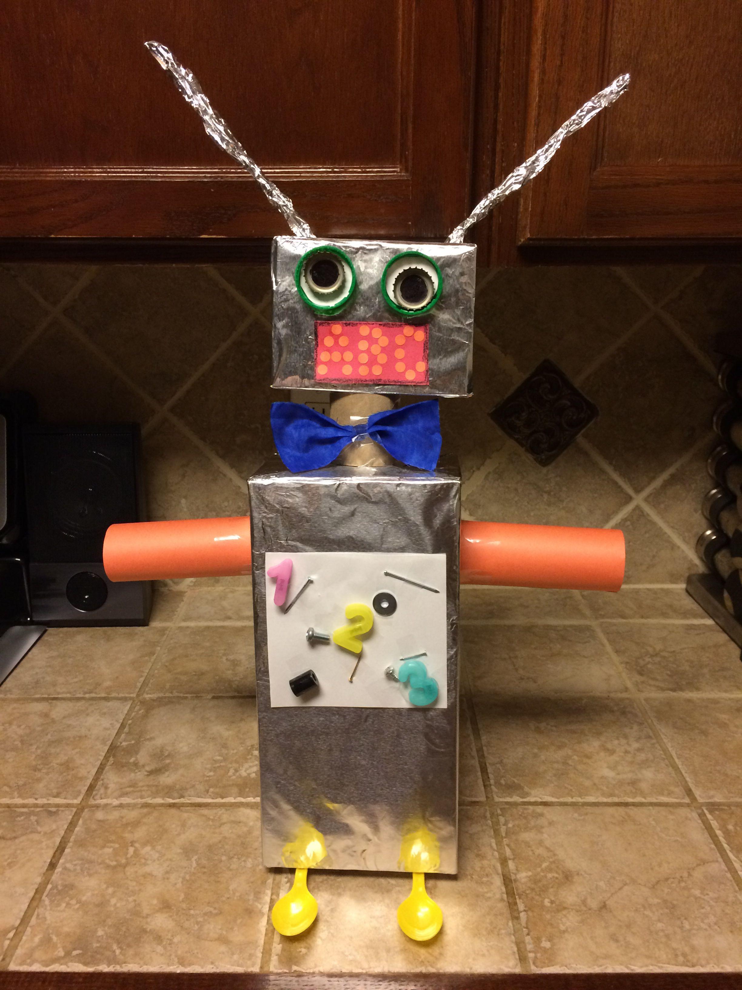 School Projects Kindergarten Art Fun Ideas Mikeys Robot Made From