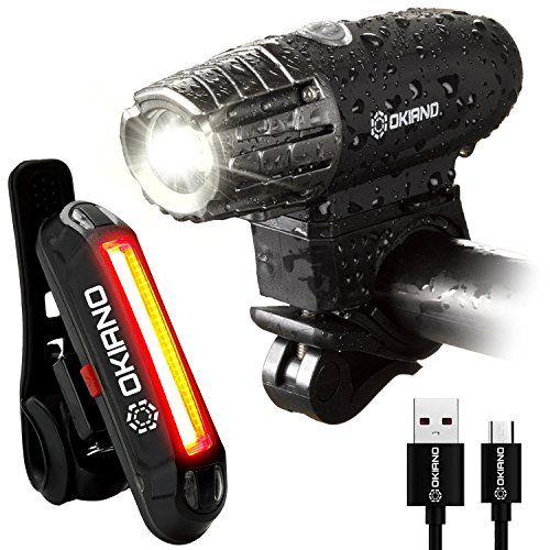 Premium Usb Rechargeable Bike Light Set Super Bright 350 Lumens