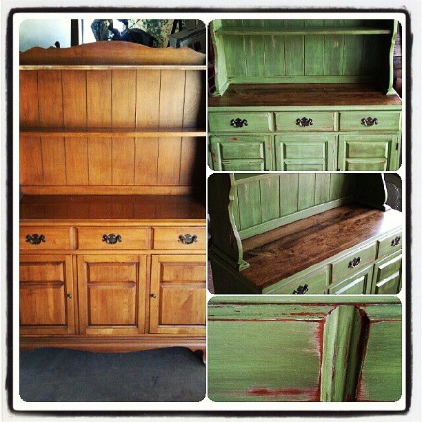 Painting Old Kitchen Cabinets Ideas: Best 25+ Distressed Hutch Ideas On Pinterest