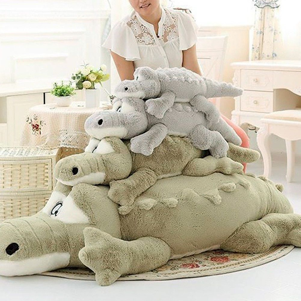 Durable plush crocodile cute stuffed animal soft toy huge cushion