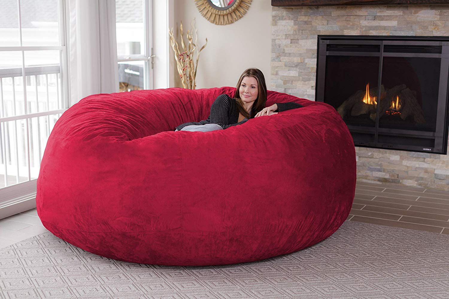 Giant Bean Bag 8ft Let S Cocoon In It Chill Sack Bean Bag Chair Giant 8 Memory Foam Furniture Bean Bag Big Sof Bean Bag Chair Bean Bag Sofa Bean Bag Bed