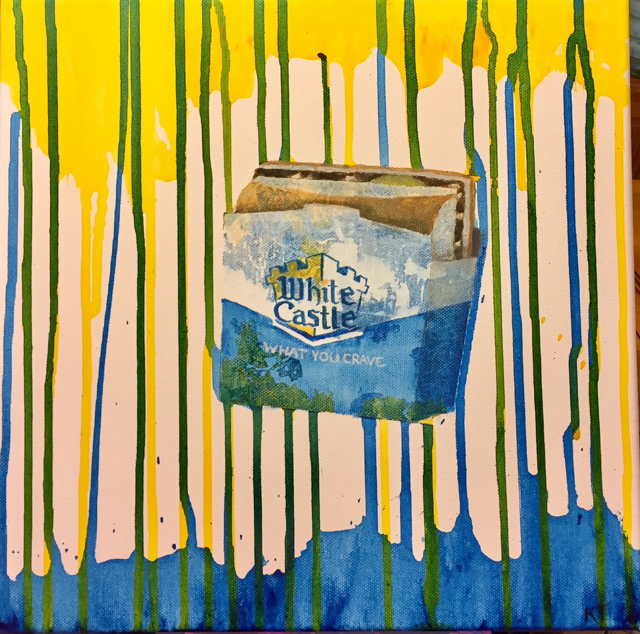 White Castle burger pop art canvas acrylic painting by Katie Tucker ...