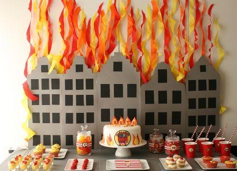 Desserttable Firemen Sam - Brandweerman Sam