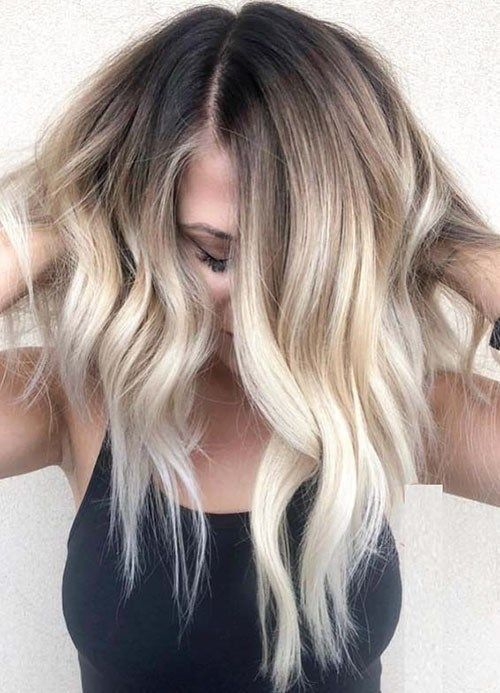 Beautiful Brown to Blonde Ombre Short Hair #blondeombre
