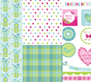 Alison Butler's Folksy Free Well Wishes Papers & Sentiments