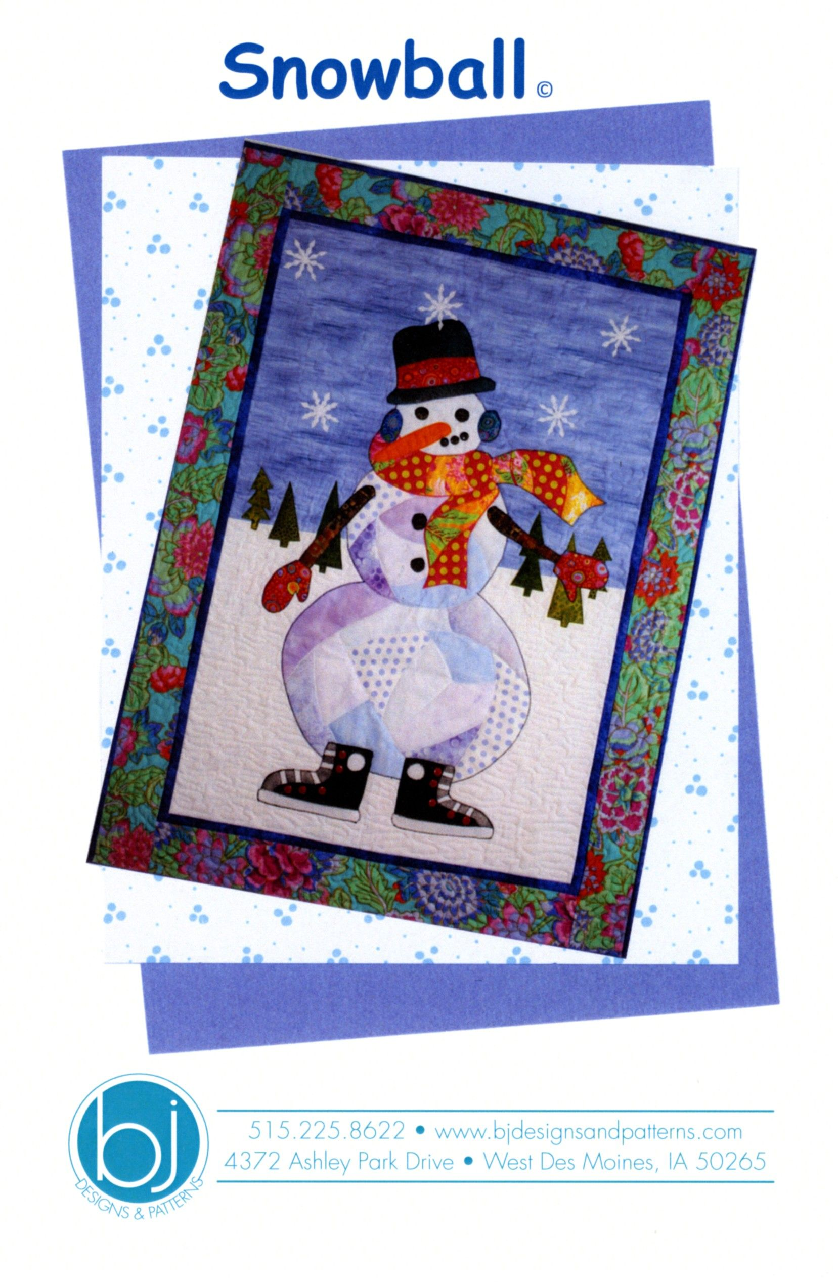 Snowball By Jones, Barbara J.  - 30in x 41in. Includes full size Applique patterns