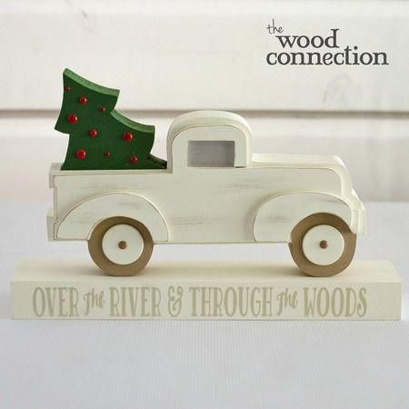 Christmas Pickup Truck With Images Unfinished Wood