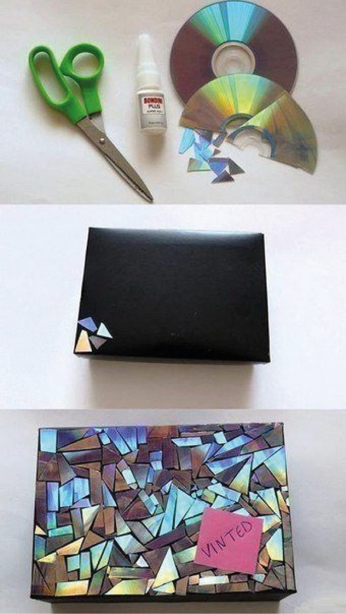 DIY Mosaic Gift Wrapping .