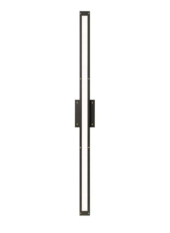 Lbl lighting ba841oybzled830 bronze antique brass denton 1 light 48 low voltage led ada compliant bath bar with opal shade