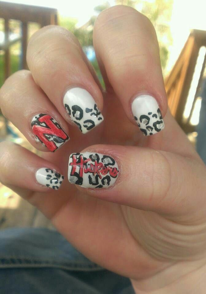 Nebraska Huskers Nails By Dani Nail Designs Football Nails