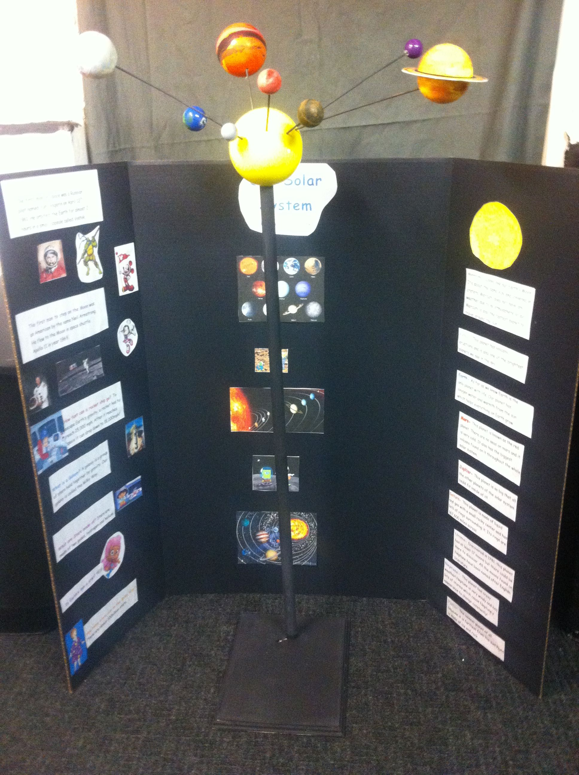 Jaylins Solar System Project Poster Board And A Mobile