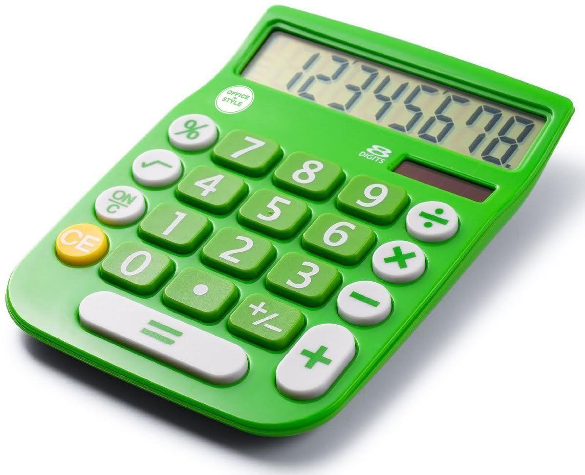 Office+Style 8 Digit Dual Powered Desktop Calculator, LCD