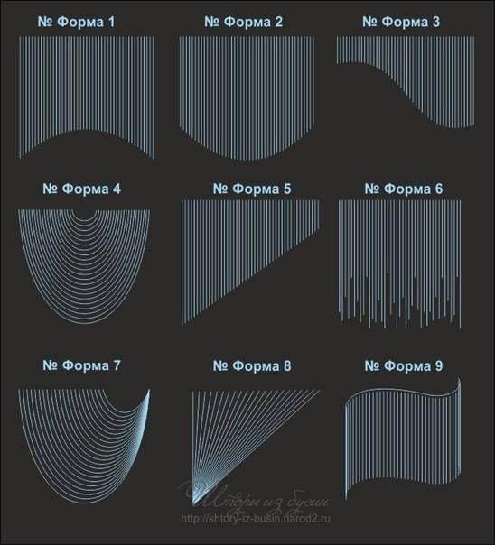 Tipos de cortinas con cuentas
