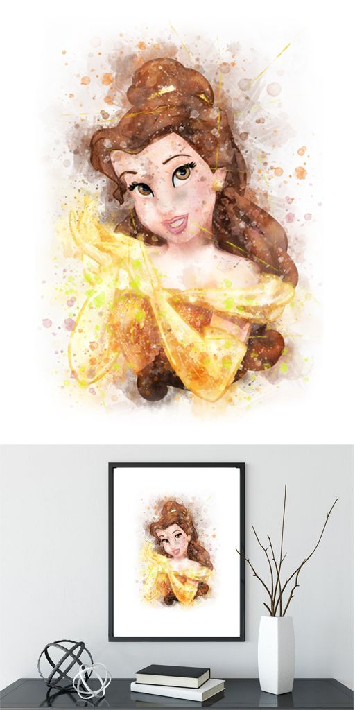 Beauty and the Beast Art Print Belle Disney Art Disney Princess ...