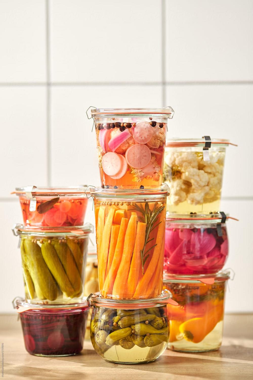 Still Life Of Pickled Vegetables On Table. | Stocksy ...