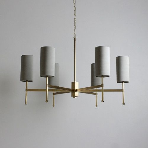 Stem Chandelier with Silk - Tigermoth Lighting