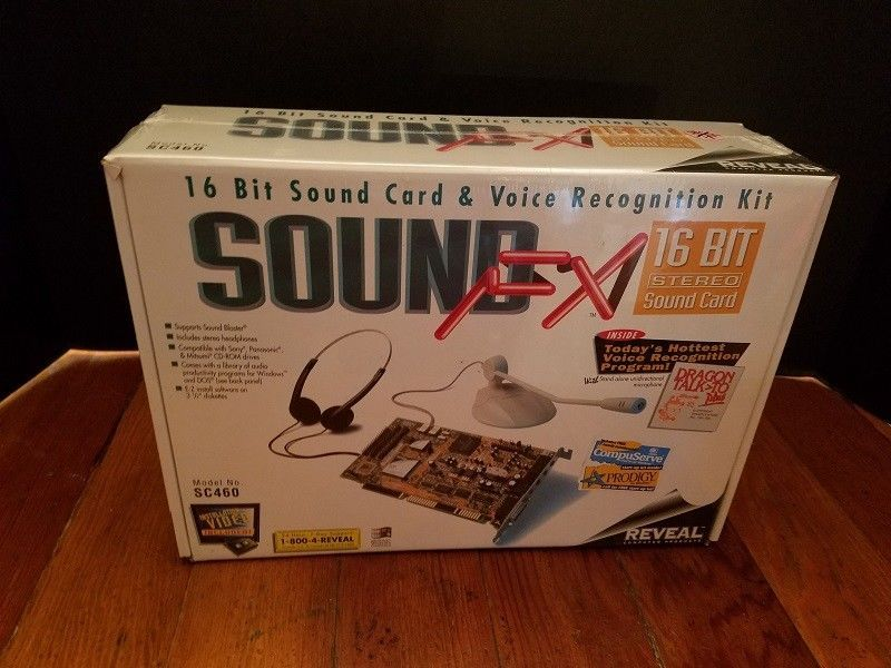 SOUND FX 16 Bit Stereo Sound Card Voice Recognition Dragon