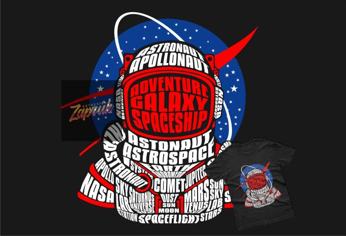 Download Astronaut X Nasa Vector Tshirt Design Ready For Print Eps Svg Cdr Png Buy T Shirt Designs Nasa Logo Astronaut Art Galaxy Art