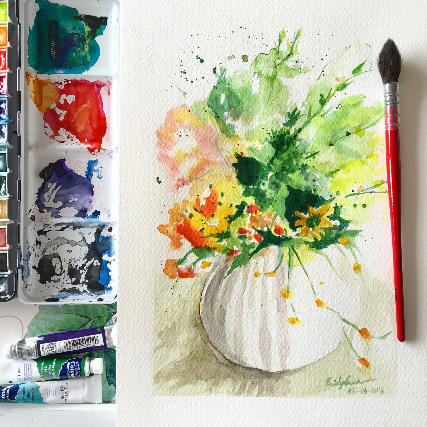 Watercolour Tutorial – Flowers in White Vase | Watercolor ... on flower butterfly painting, flower wreath painting, flower window painting, bottle flower painting, flower bed painting, flower still life oil paintings, flower table painting, frame painting, flower mirror painting, flower box painting, flower vases with flowers, flower light painting, flower oil paintings christmas, candle painting, bird-and-flower painting, flower white painting, flower bowl painting, modern palette knife painting, flower stand painting, flower girl painting,