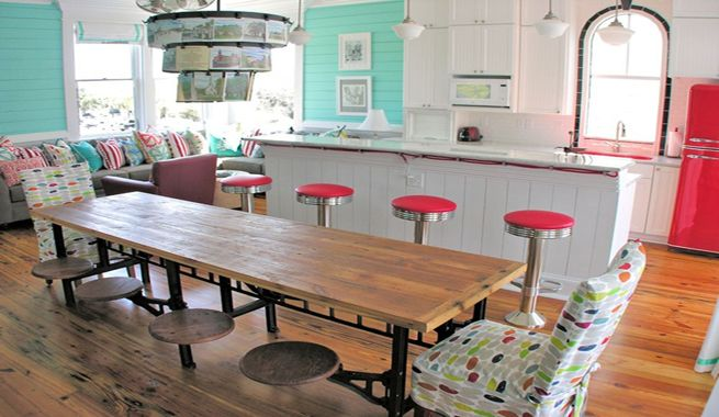 Espacio Retro Rojo Turquesa y Blanco For the Home Pinterest
