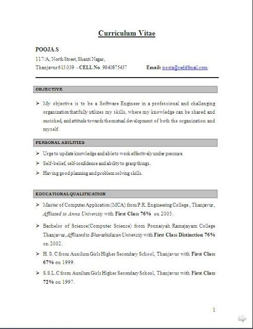 Best Resume Layout Free Download Sample Template Example Of
