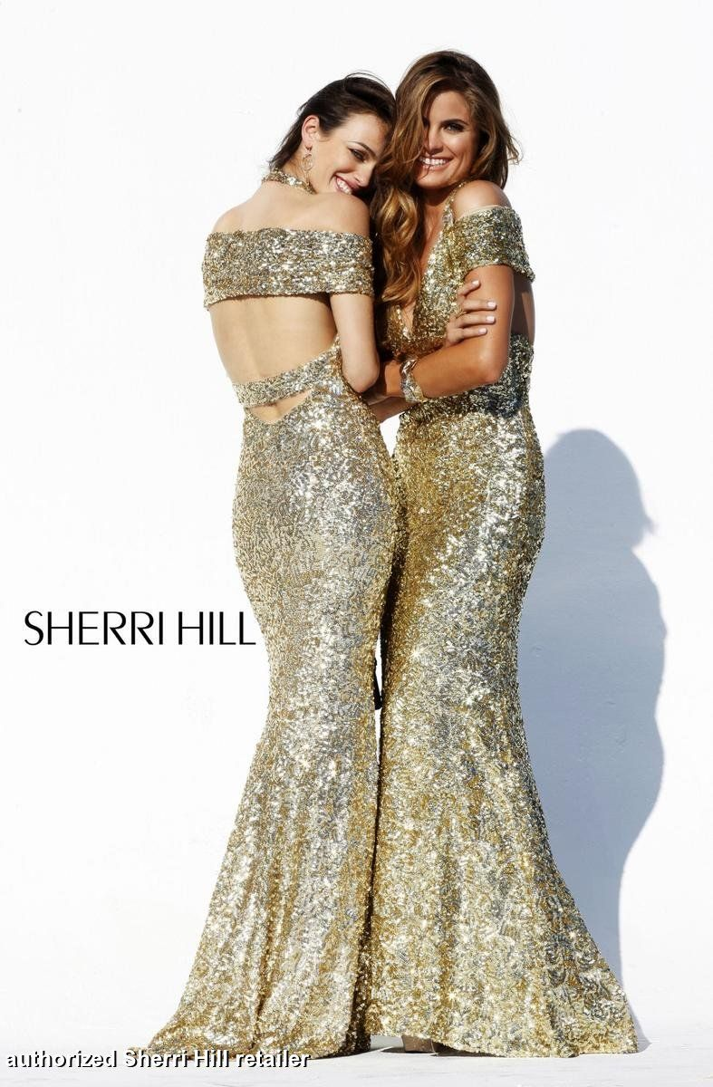 Prom dresses sherri hill unique shoulder formals