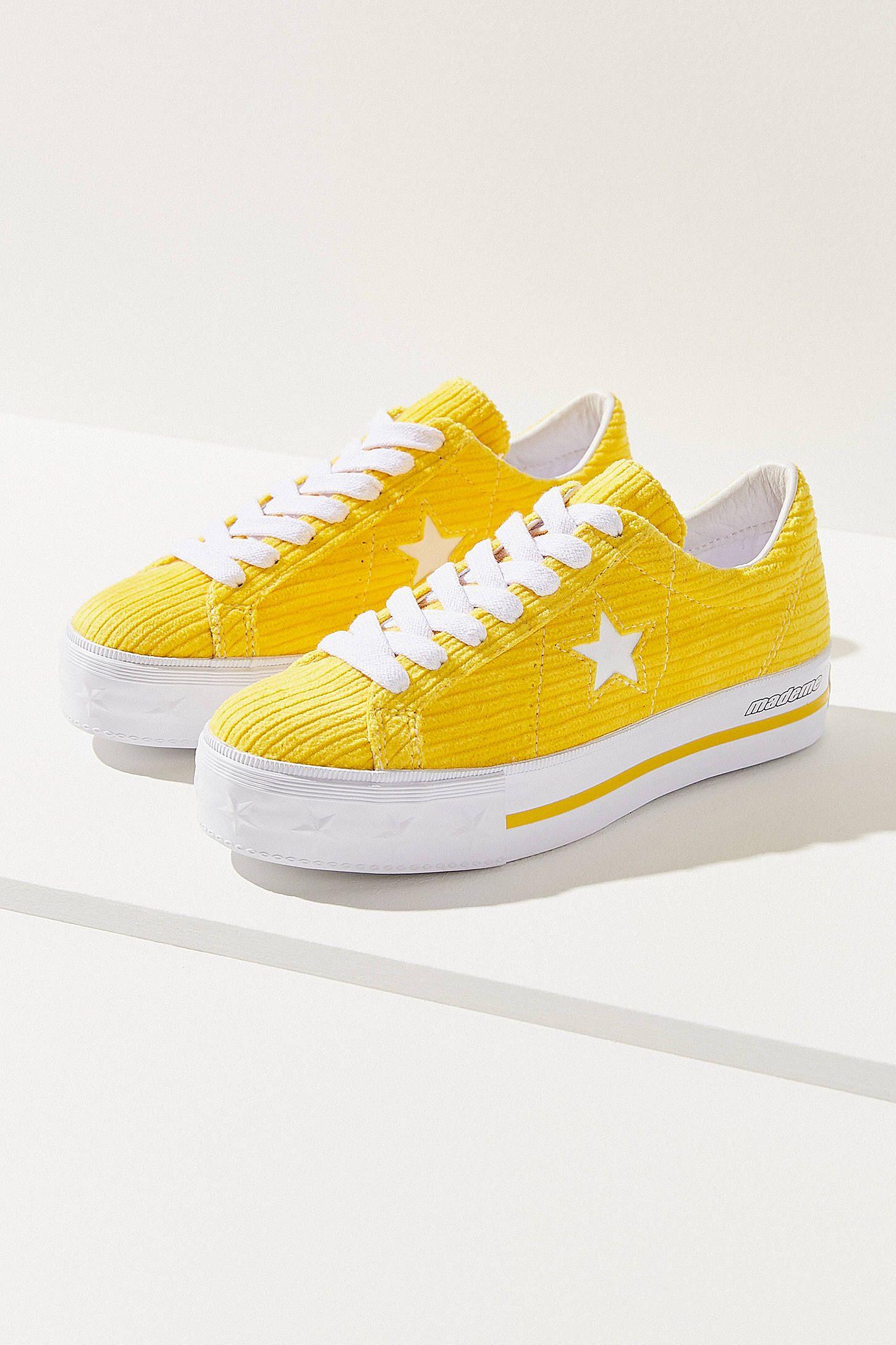 d325e932cdfac7 Converse One Star X MadeMe Corduroy Platform Sneaker