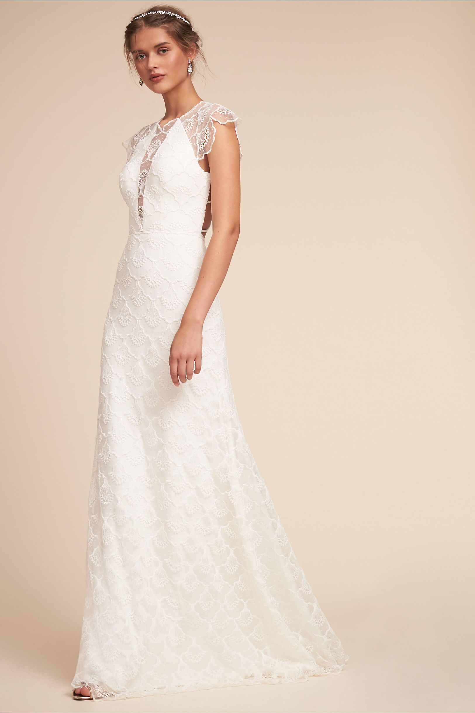 Bhldnus cara gown in ivory products pinterest wedding dresses