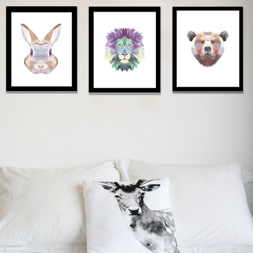 Canvas Art Print Poster Animal Lion Rabbit Head Europe Spray Painting Animal Wall Pictures Home Decoration No include Frame-in Painting & Calligraphy from Home & Garden on Aliexpress.com | Alibaba Group