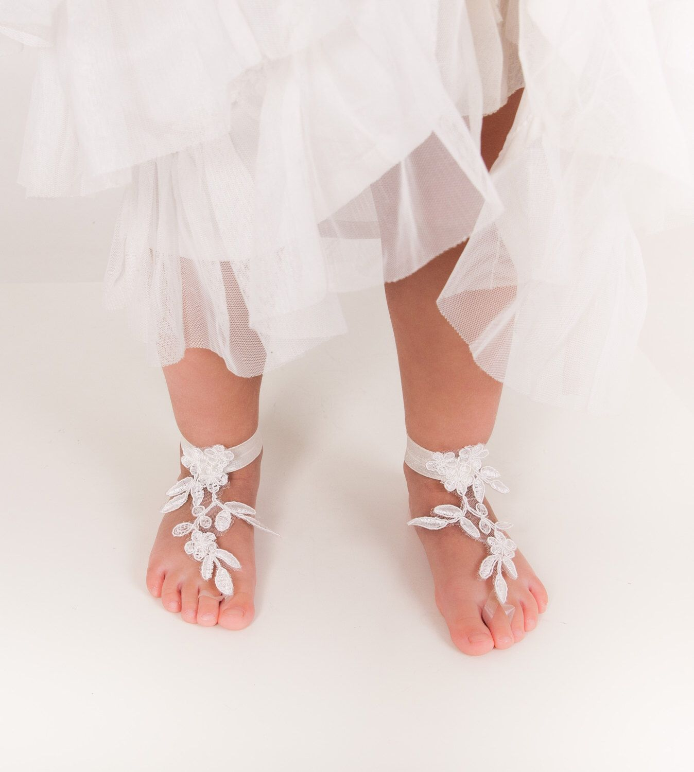 Baby Lace barefoot sandals Toddler footless sandals Kids shoes