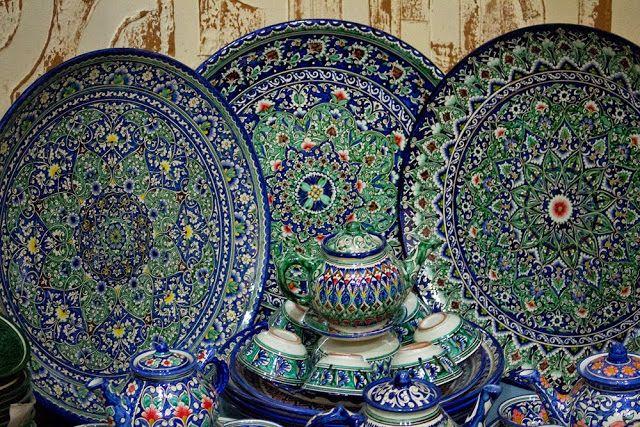 Inside A Treasure Cave Visiting A Handicraft Shop In Samarkand