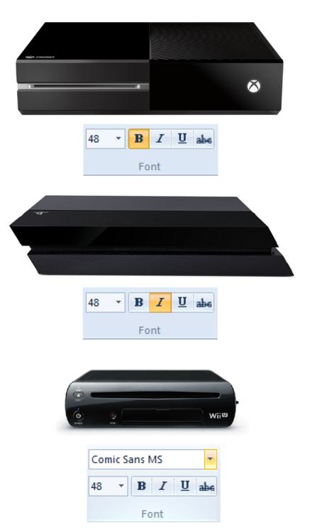 Las consolas de nueva generación las diseñaron en el Word