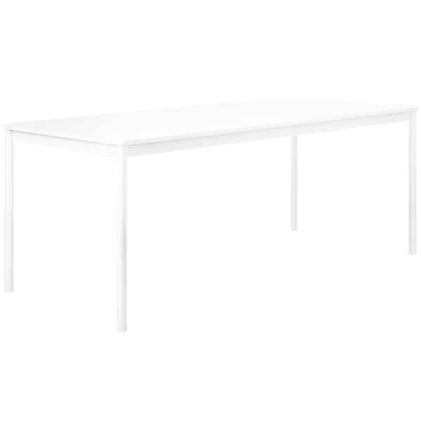 Base table 190 x 85 cm, laminate with ABS edges, by Muuto.