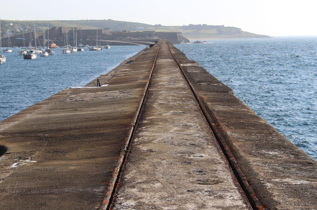 end of the breakwater coastal defence system alderney british
