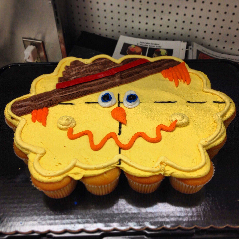 scarecrow halloween cupcake cake | my cake decorating portfolio