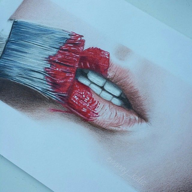 Close-up of my most liked drawing! This was my first drawing of skin when I started using colored pencils.  #fabercastell