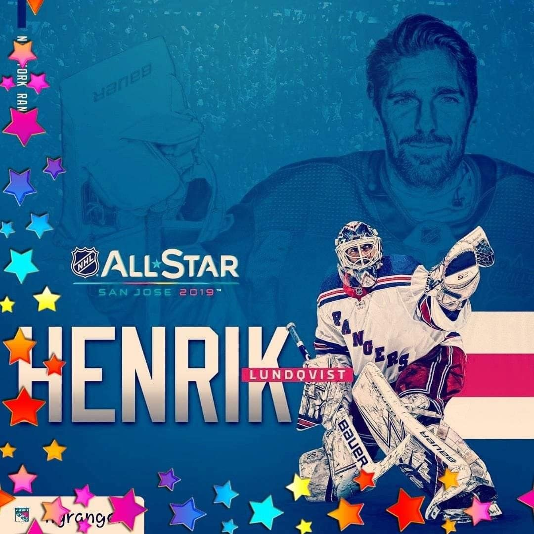 Henrik Lundqvist Named All Star For 5th Time In Nhl Career