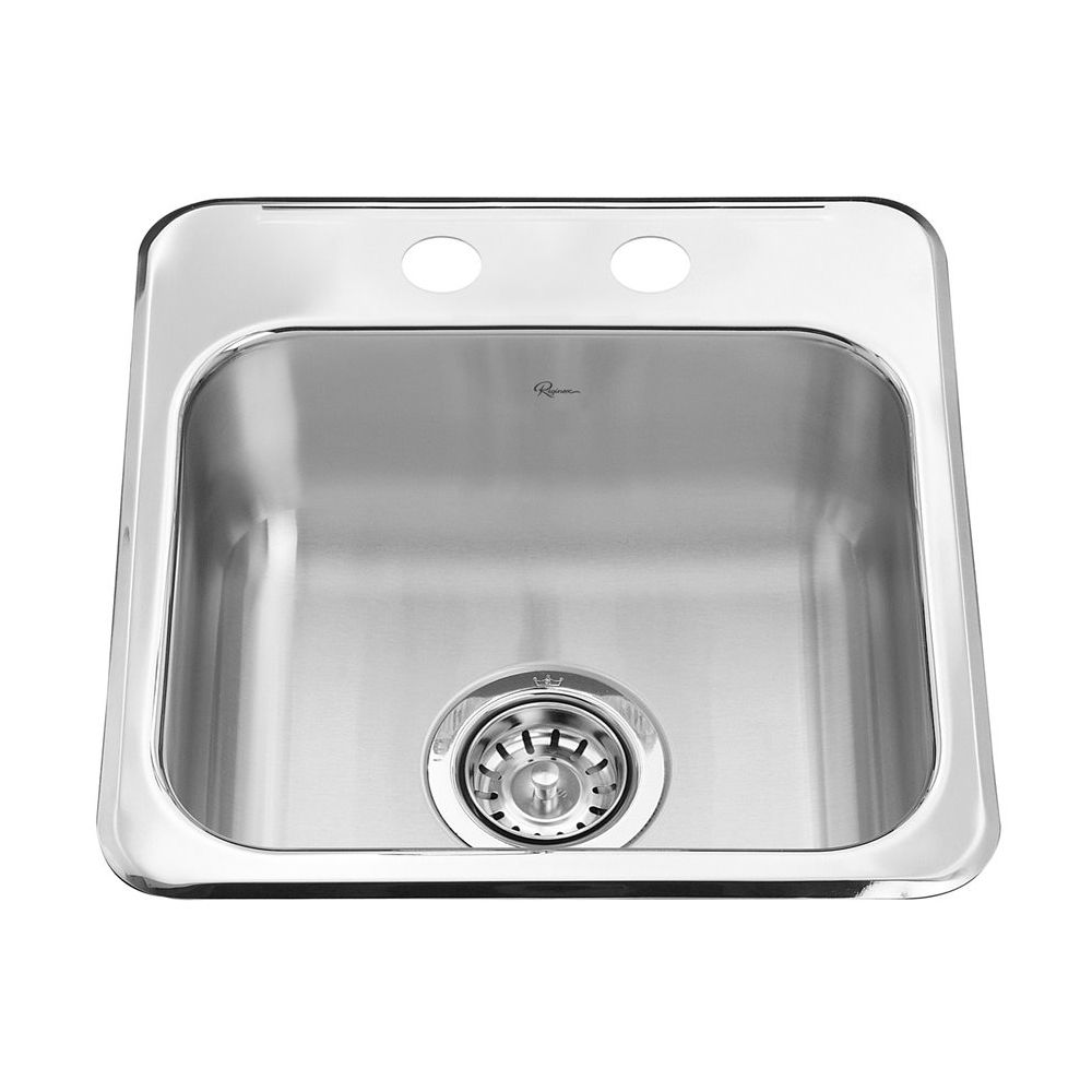 Kindred Reginox Brushed Bowl Mirror Deck Single Bowl Stainless Steel Drop In Commercial Residential Bar Sink Bar Sink Sink Stainless Steel Bar