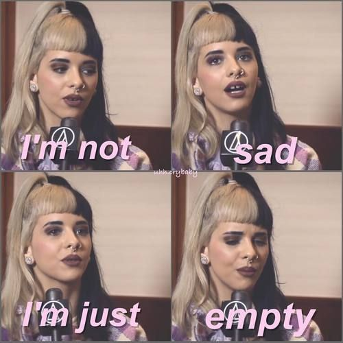 I'm very empty but I don't know why