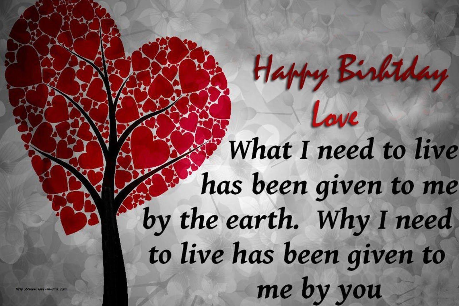Happy Birthday Wishes to my Love | Love | Happy birthday love