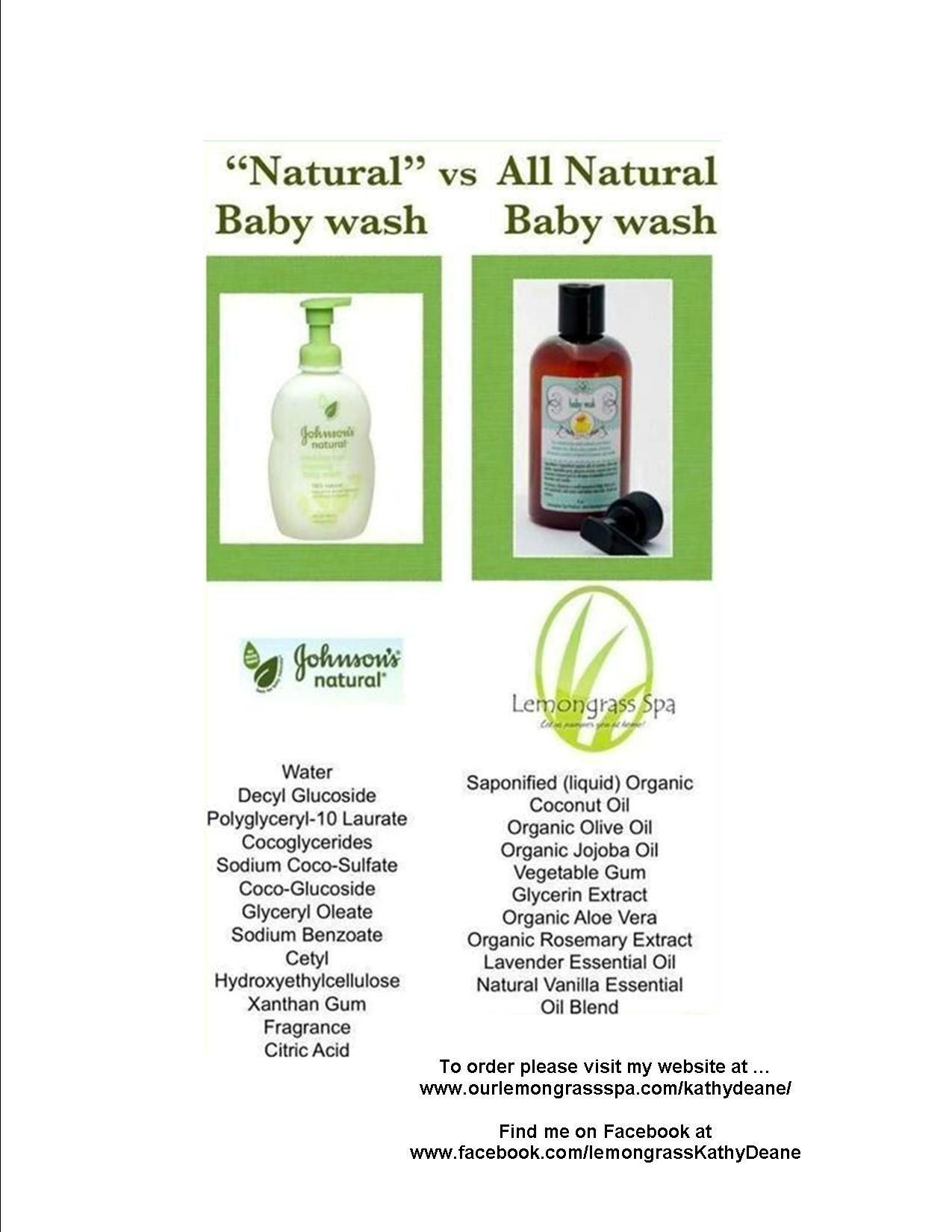 Just Because Johnsons Puts A Natural Ingredient In It Doesn T Make It Natural It S Like Calling Carr Lemongrass Spa Best Natural Skin Care Natural Skin Care