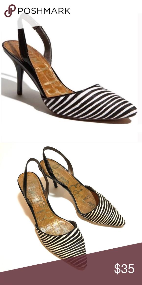 dac6d14e7a3dd9  Sam Edelman  Orly Zebra Slingback Heels Style is Orly