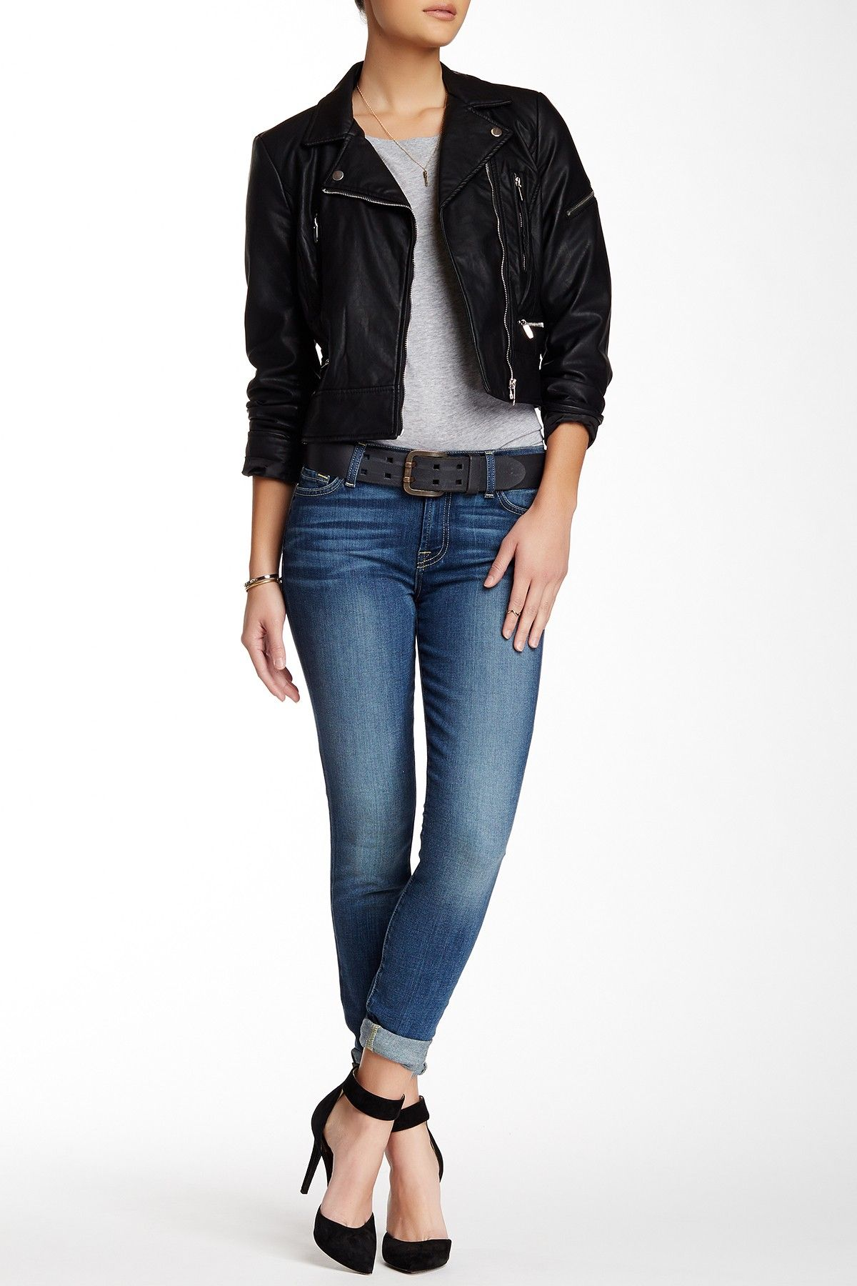 7 For All Mankind The Vaqueros Skinny para Mujer