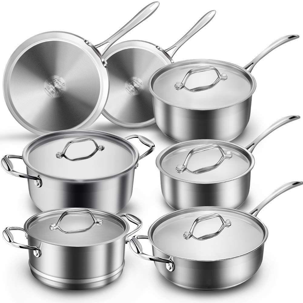 Dealz Frenzy Multiclad Pro Cookware Set Classic Pots And Pans Set