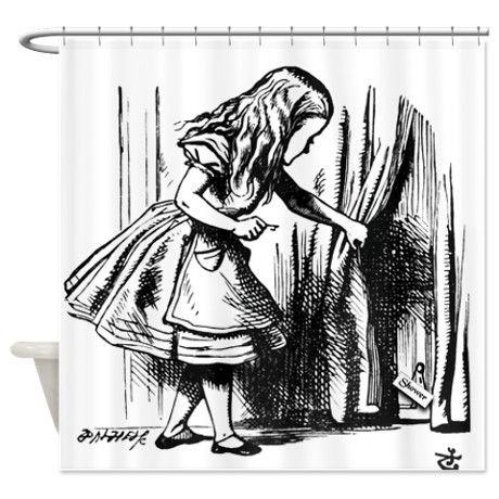 Alice In Wonderland Shower Curtain By InspirationzStore