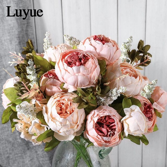 Consumer Electronics Digital Gear Bags 13cm Silk Plastic Peony Flower For Home Decor Bridal Accessories Clearance Fake Stamen A Cap Diy Gift Wreath Artificial Flower Pretty And Colorful