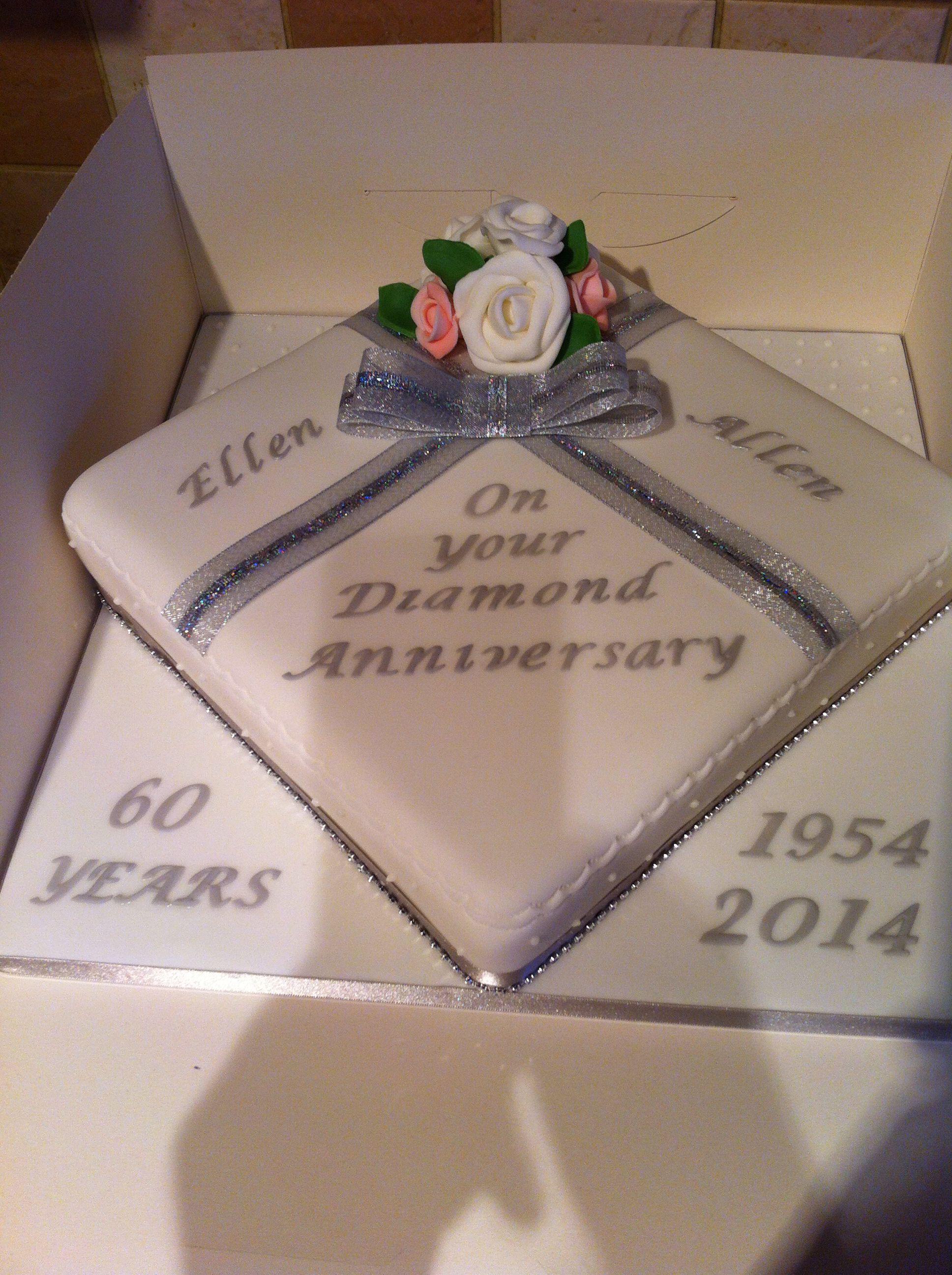 Diamond wedding anniversary cake … Diamond anniversary