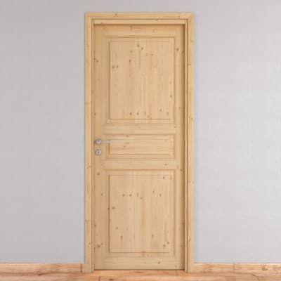 Porta da interno battente Beethoven grezza 70 x H 210 cm reversibile ...