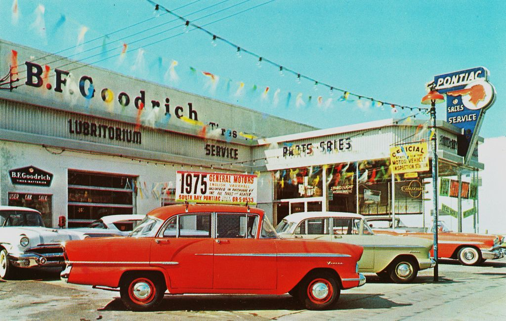 1958 South Bay Pontiac Motors, Dealership, Patchogue, New