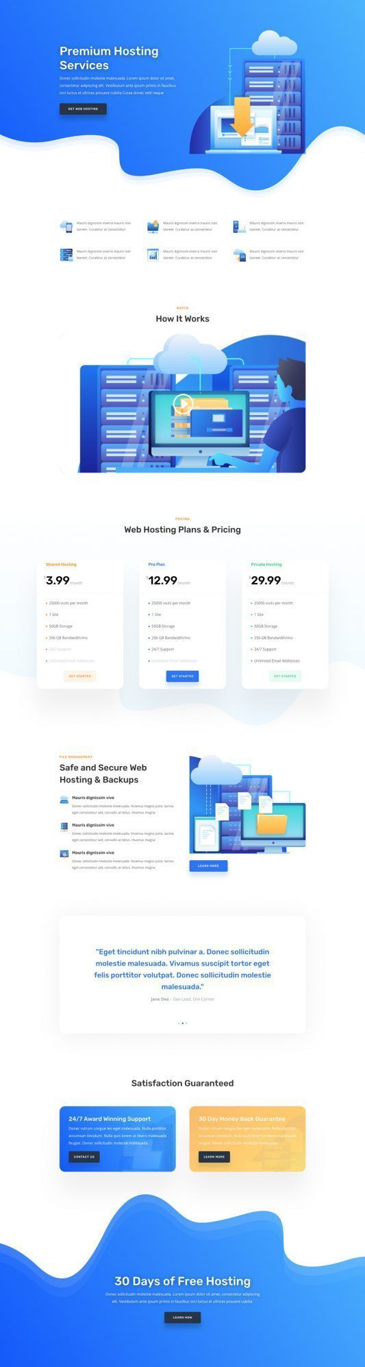 Hosting Company Modern And Trendy Website Design Home Page Fresh Looking Bright And Creative We Small Business Web Design Hosting Company Creative Web Design